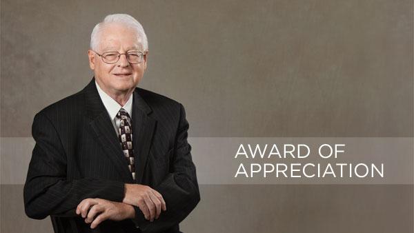 Ivan Milton Recieves Award of Appreciation