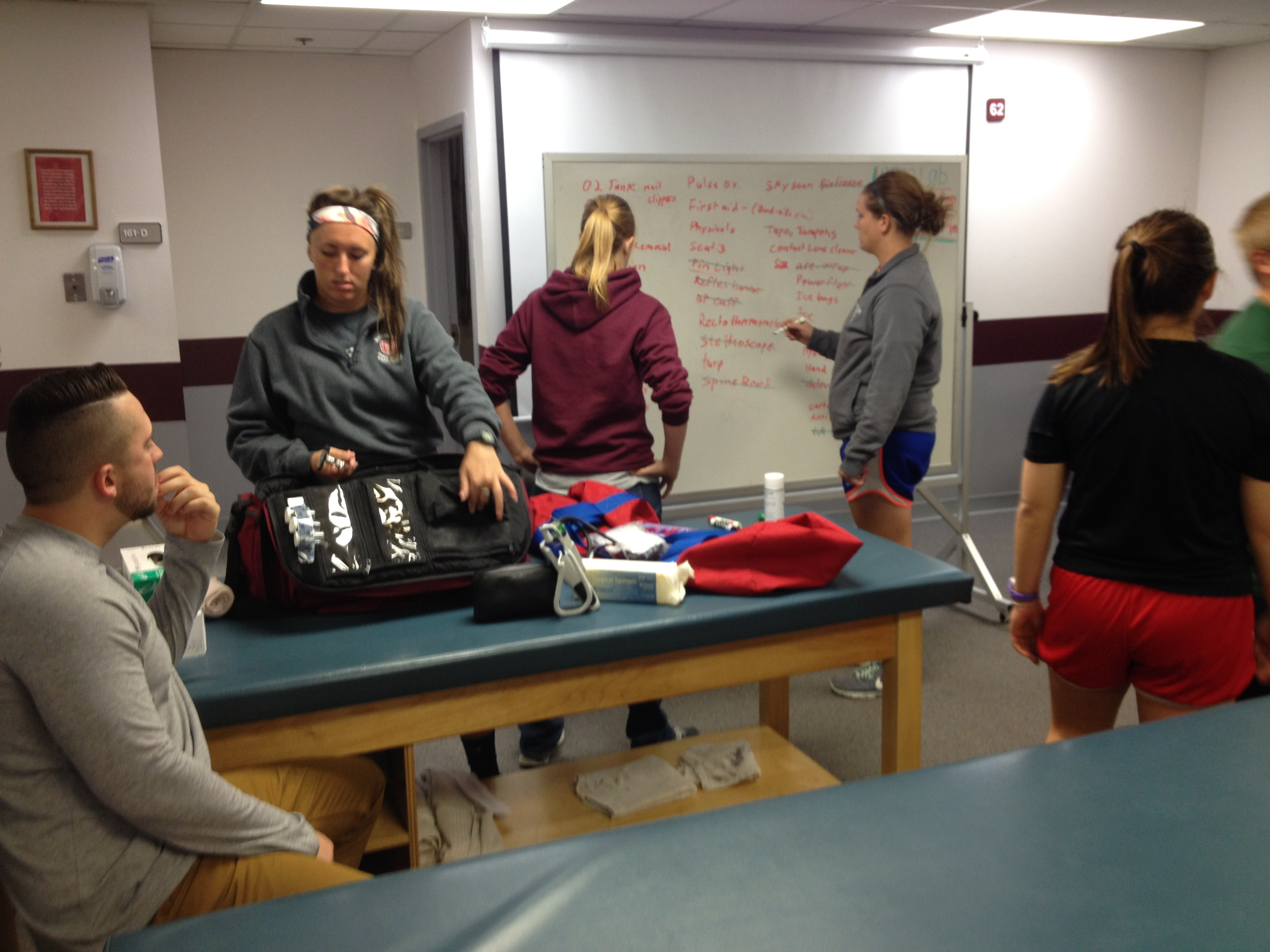 Third Year Athletic Training Students Prepare for Simulations