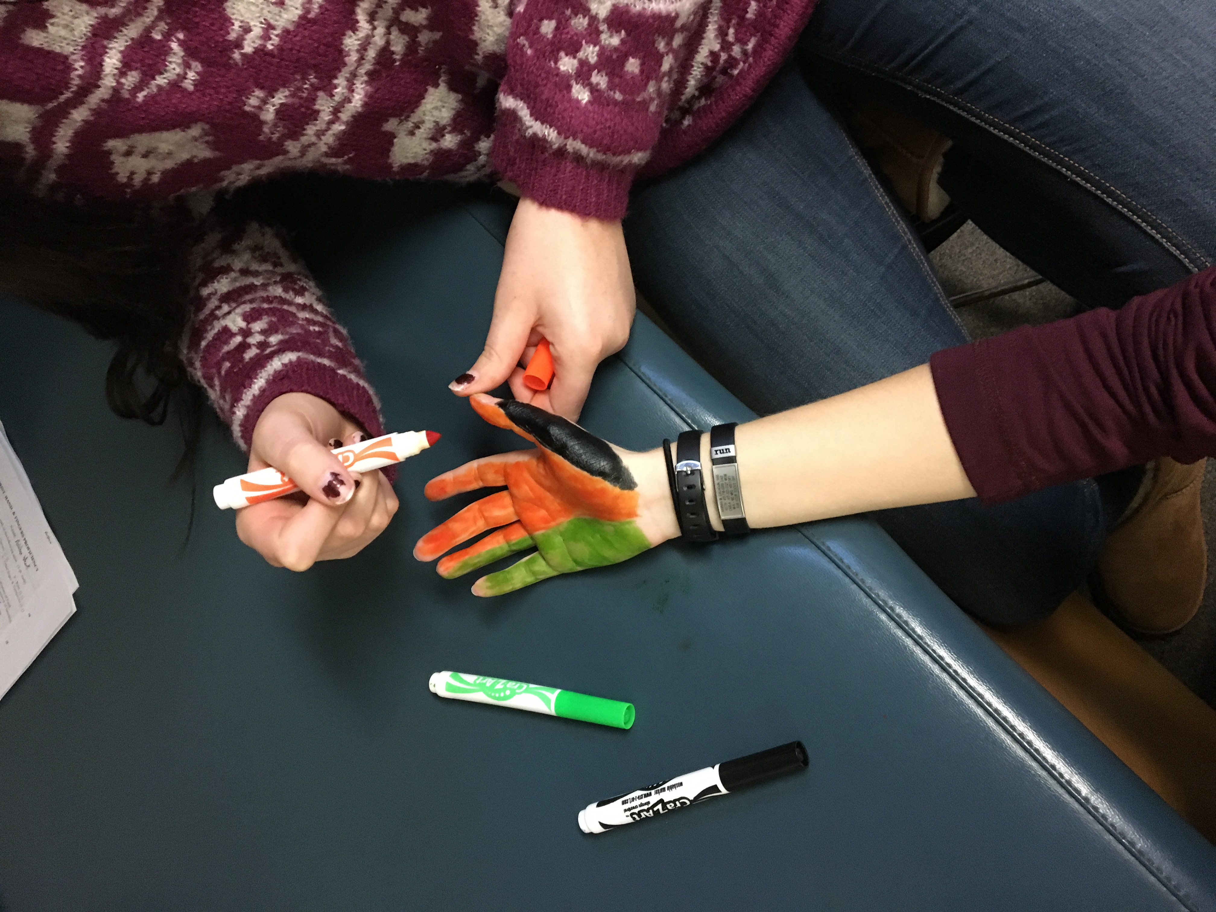 Arts and Crafts in Evaluation Class