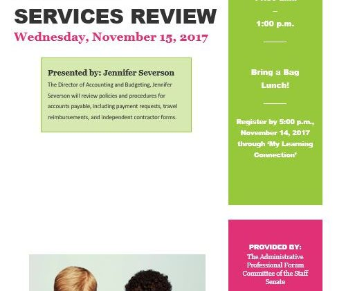 Administrative Professionals Forum: Financial Services Review