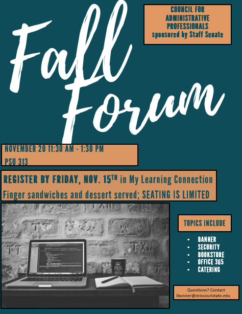 Information about Administrative Professionals Fall Forum