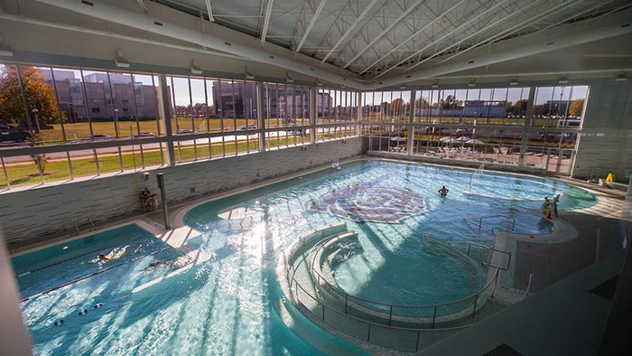 The newly constructed Foster Recreation Center features a state-of-the-art pool and fitness center. Kevin White/ Missouri State
