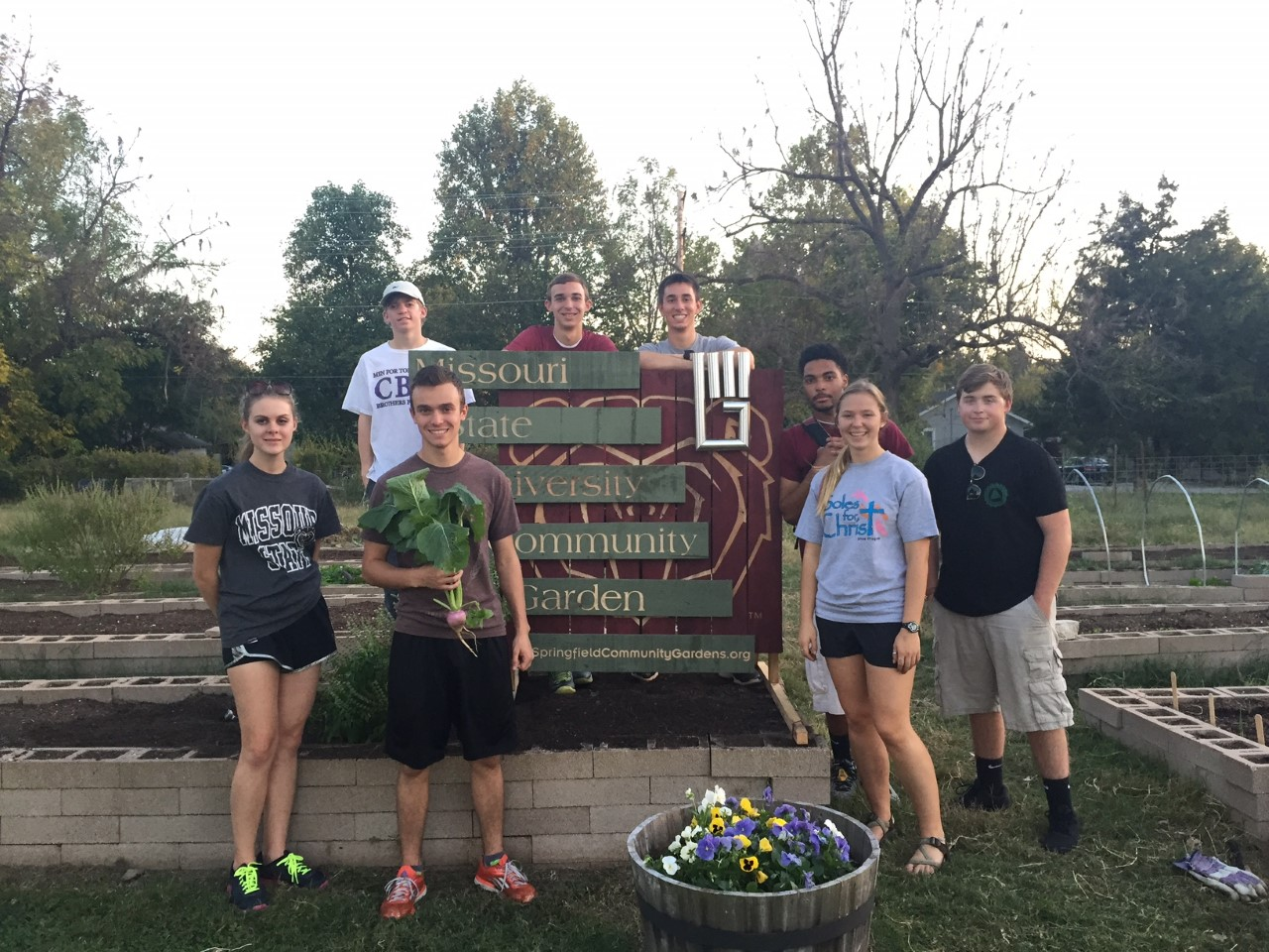 MSU Campus Garden Receives New Sign