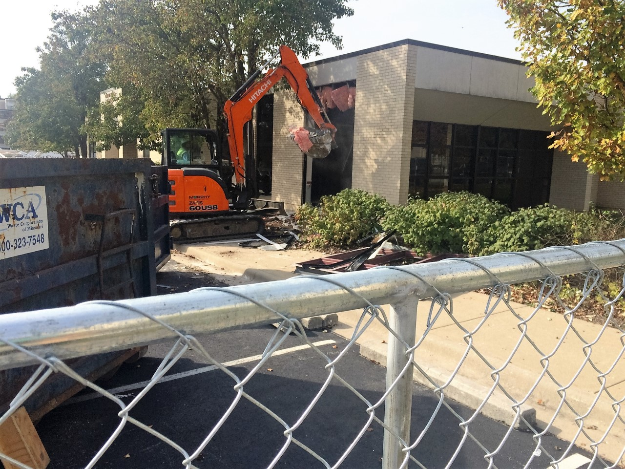 Demolition of the Taylor Health and Wellness Center Begins