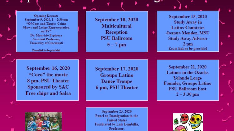 Latinx Heritage Month Calendar