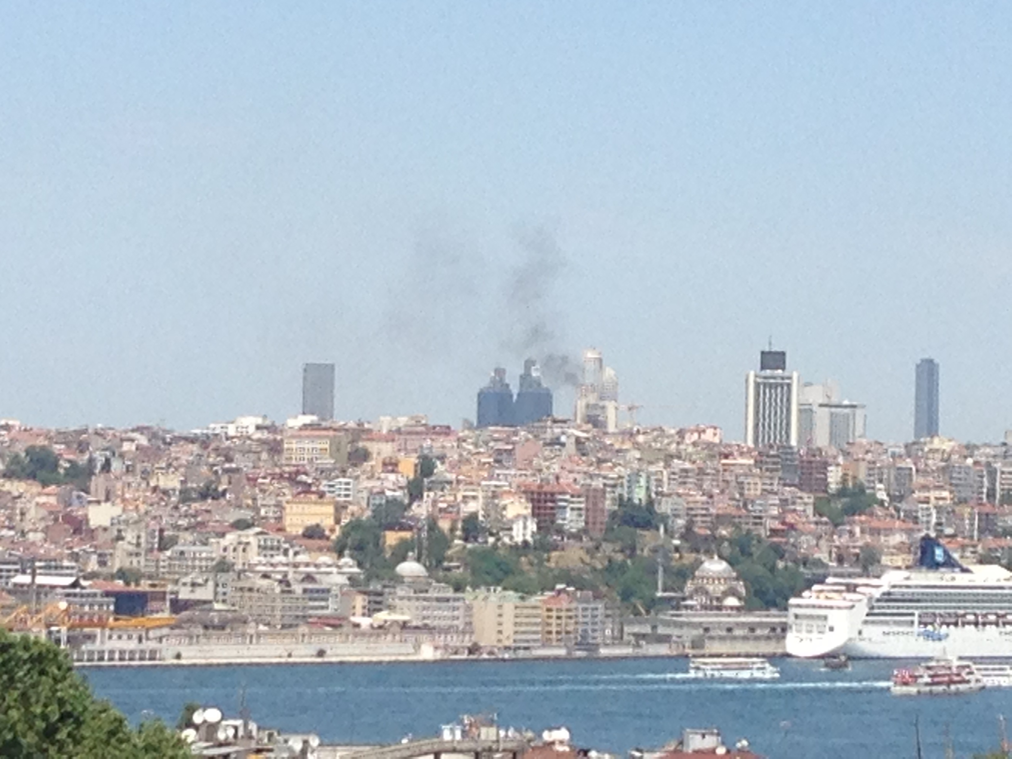 Taksim Square … from a safe distance.