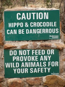 Dont mess with the Hippos- we did see some though ^^