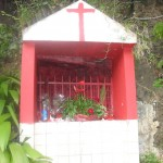 One of the many shrines on the island