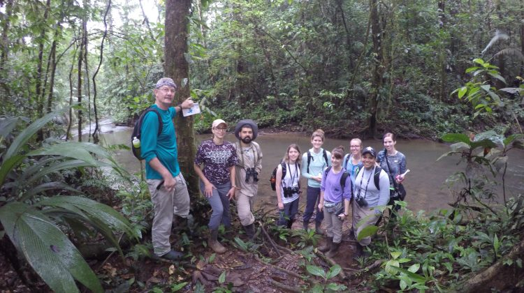Students exploring the jungles of Costa Rica for biology research.