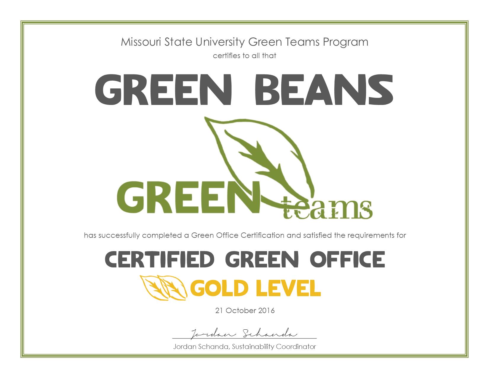 Green Teams Spotlight: Green Beans