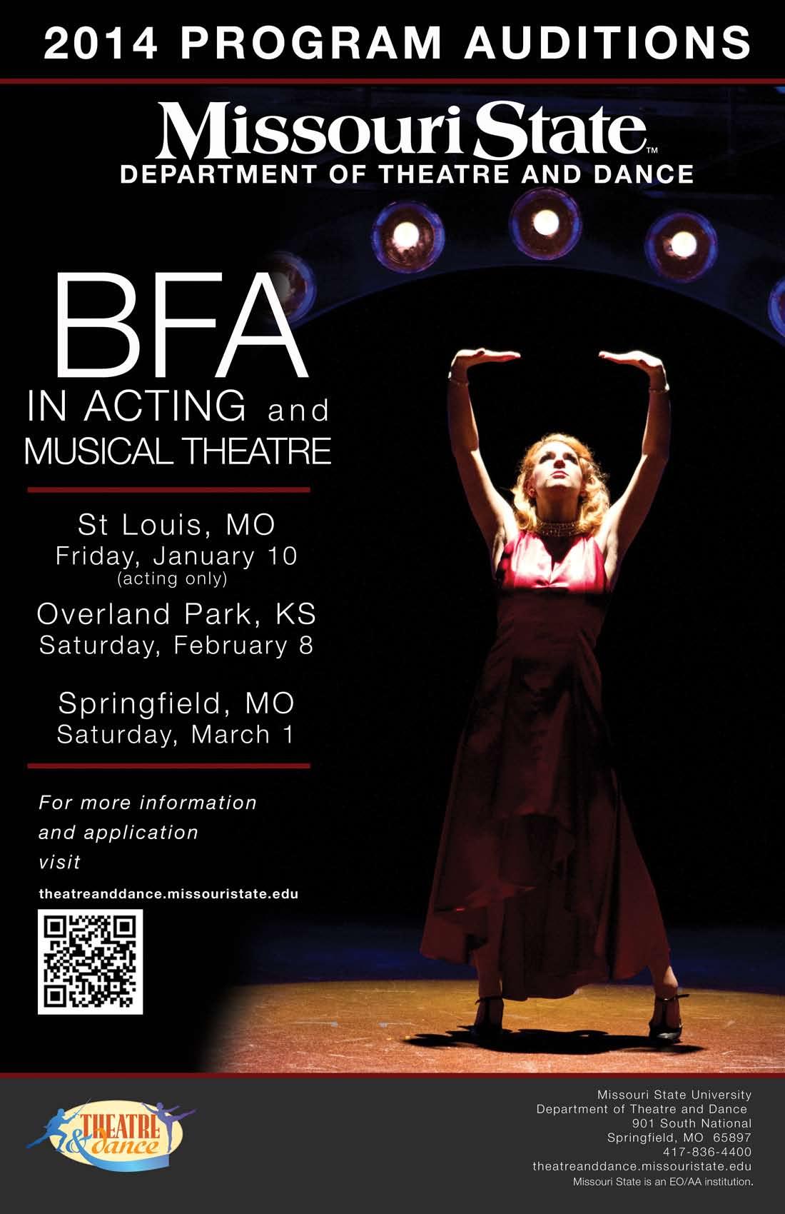 BFA Auditions Set For Spring