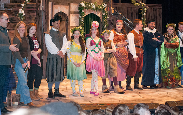 """MSU students engage with area students after performance of """"A Midsummer Night's Dream."""""""