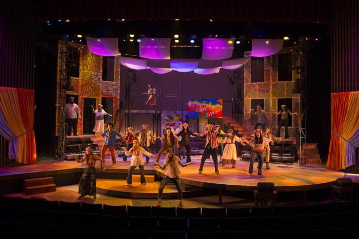 Theatre and Dance's production of Hair. Taken on Friday, April 8, 2016.