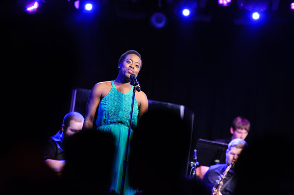 Alicia Douglas performs at a 2016 New York musical theatre showcase