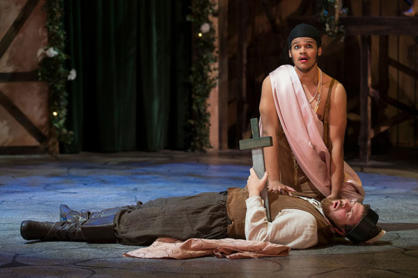 """Darian Bengston played Francis Flute in MSU's 2015 production of """"A Midsummer Night's Dream."""" Photo by Jesse Scheve, MSU's Photo Services."""
