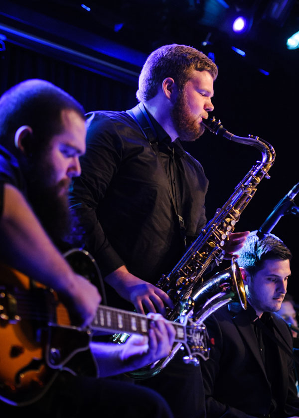 The MSU Jazz Ensemble sent 18 members to New York City in 2016 to provide musical accompaniment during the cabaret performances.
