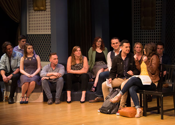 In the acting showcase, students perform in pairs in front of casting professionals.