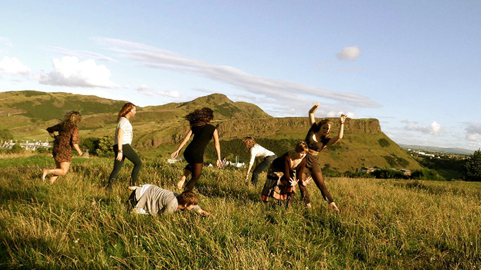 Students enjoying a Study Away experience in the Scottish Highlands