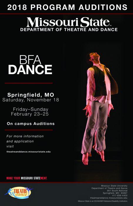 BFA dance audition flyer