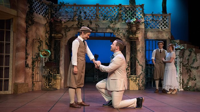 A scene from Brescia's production of Twelfth Night. Photo by Ryan Welch/Missouri State University