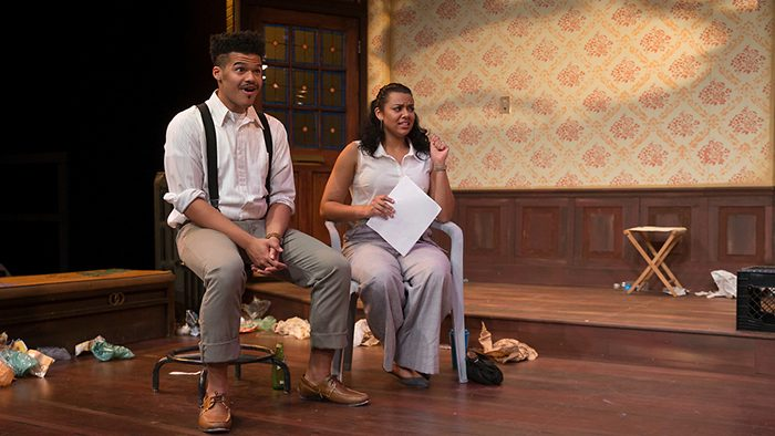 "Olivia with Darian Bengston in the Missouri State production of ""Clybourne Park"""