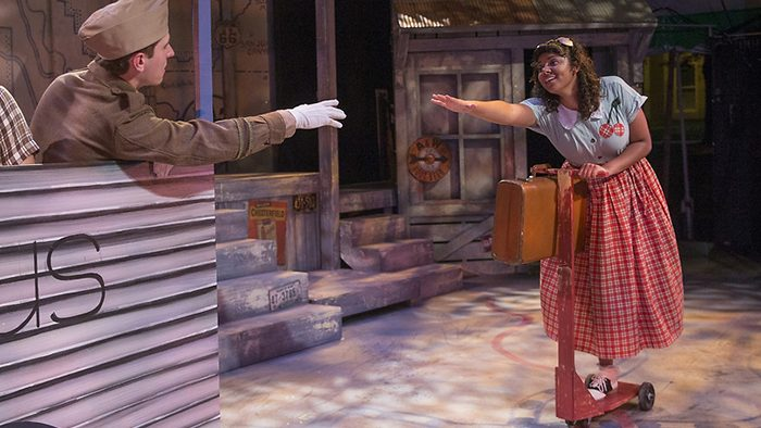 """Olivia in the Tent Theatre production """"All Shook Up"""""""