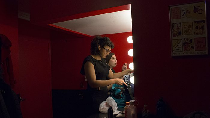 Olivia backstage before the New York Showcase
