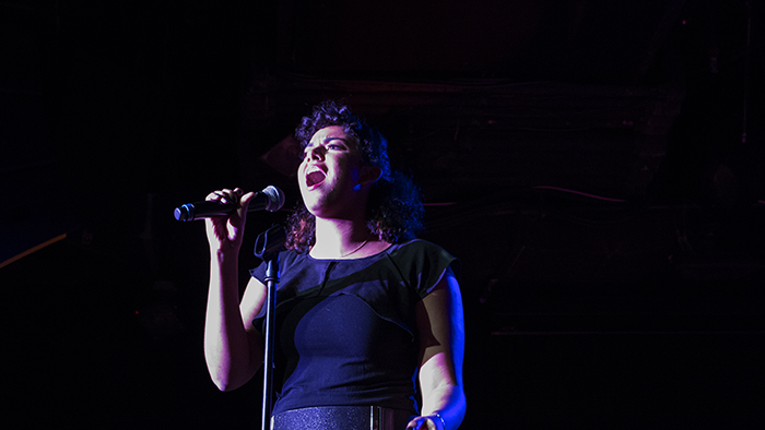 Olivia Jones performing at the New York Showcase