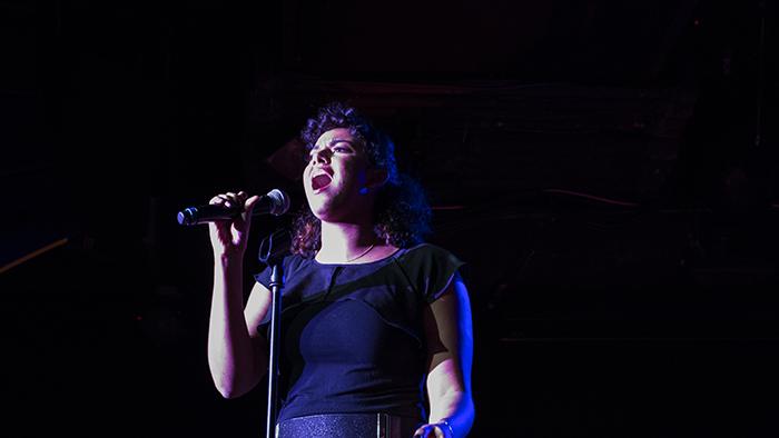 Olivia Jones performing at the New York Showcase