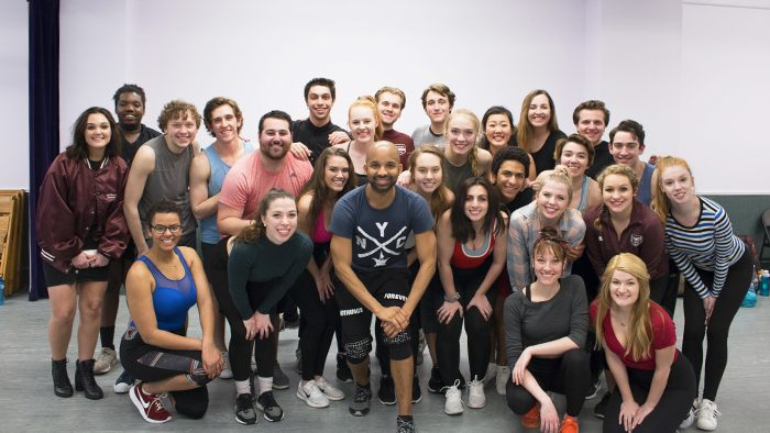 Antuan Raimone with musical theatre students