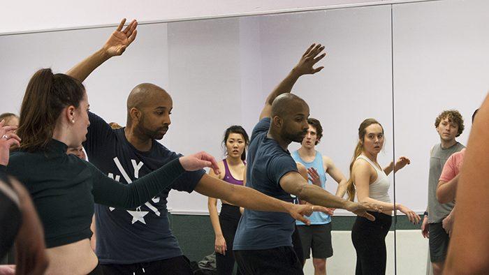 Antuan Raimone teaching musical theatre students