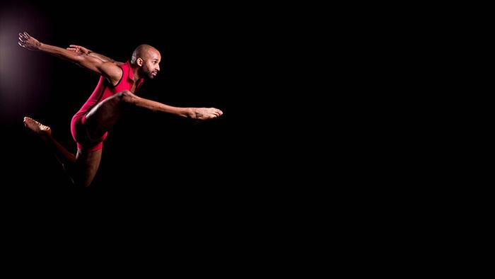 Antuan Raimone, soaring in a dance