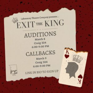"""""""Exit the King"""" Audition Flyer"""