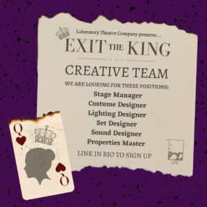 """""""Exit the King' Creative Team Flyer"""