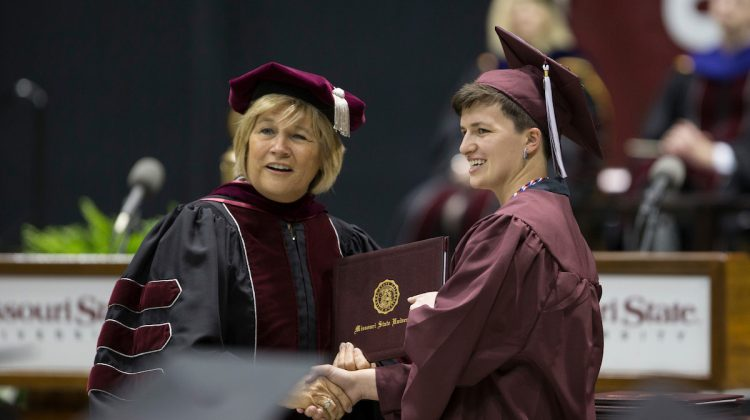 Deidre Ashley at commencement