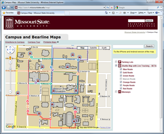 Going Mobile Extending A Maps API Project To Smart Phones Web - Map of missouri state
