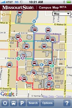Campus Map - Mobile Version