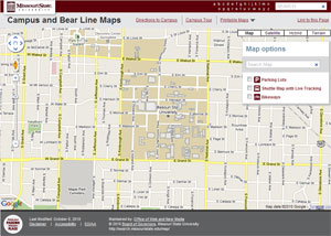 Campus Map Screenshot