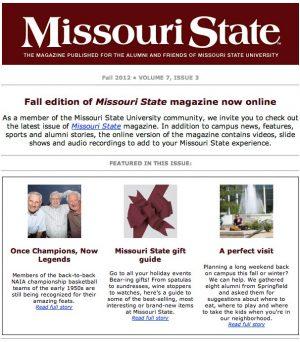 Missouri State Magazine email