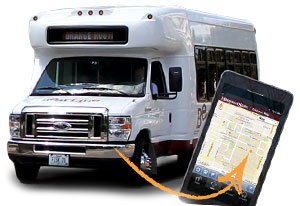 Shuttle bus and app
