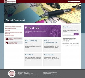 Student Employment website