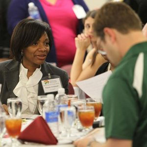 Attendees lunching together at the Statewide Collaborative Diversity Conference