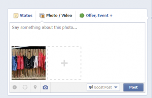 Adding a photo to Facebook