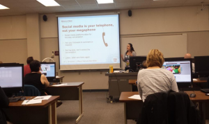 Courtney Wendel-Stevenson at Social Media Boot Camp
