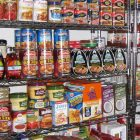 Non-perishable food items in pantry