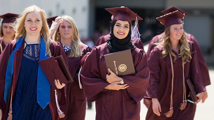Graduates depart JQH Arena