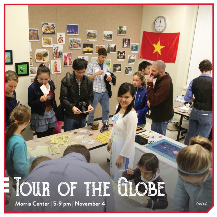 students explore tour of the globe event