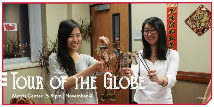 students make art at tour of the globe