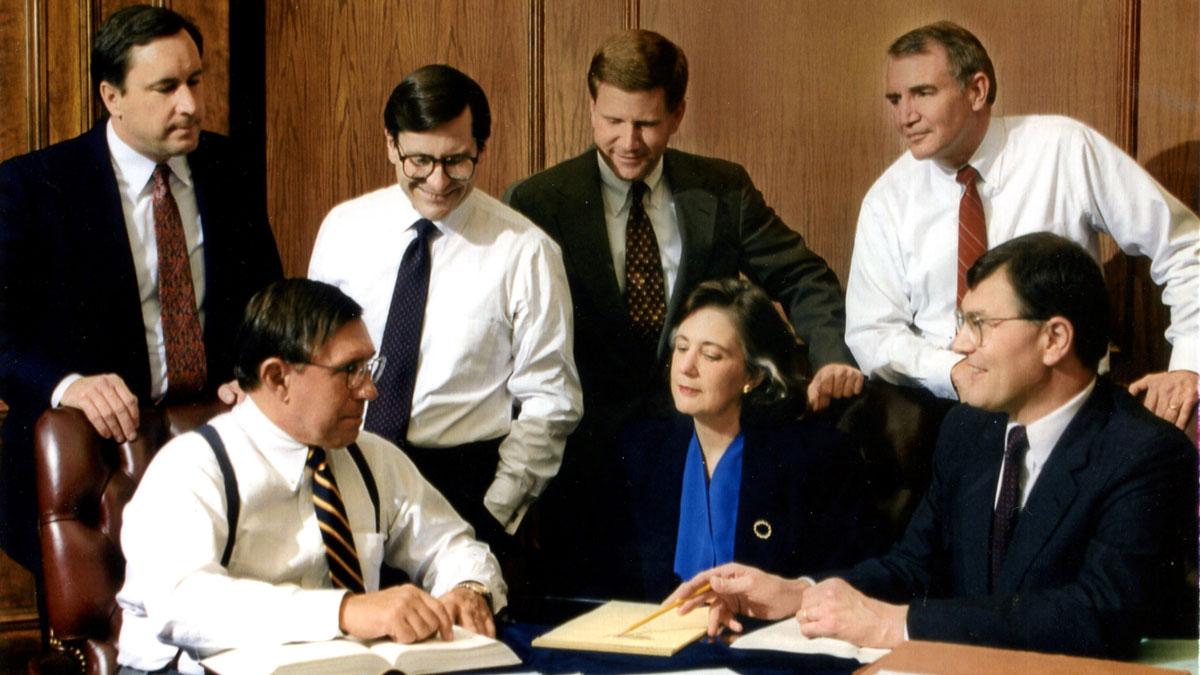 Ann Covington with colleagues in Missouri Supreme Court