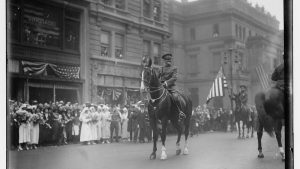 General John Pershing on a horse